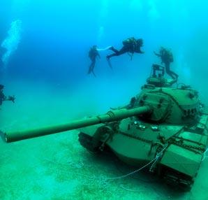 Güvercin Adası'na dalış turizmi içi tank taşındı