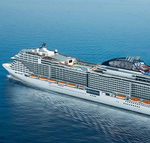 MSC Cruises yeni nesil gemisi Meraviglia'yı suya indiriyor