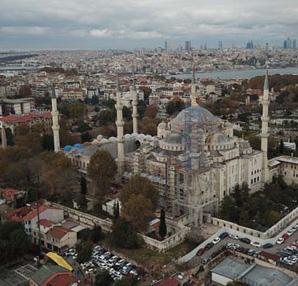 Sultanahmet Camii'nden farklı bir manzara