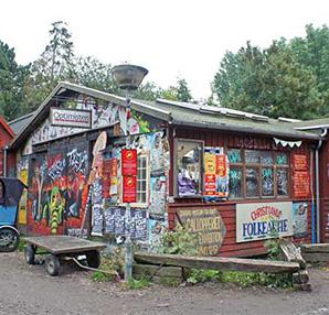 Kopenhag'ın aykırı bölgesi Christiania