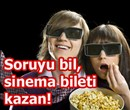 Soruyu bil, Cinecity'den sinema bileti kazan!
