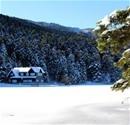 Gölcük'te kartpostallık kar manzarası
