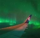 Kutup Işıkları güney yarım kürede uçaktan görüntülendi