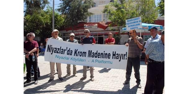 Yeşilova'da krom madeni protestosu