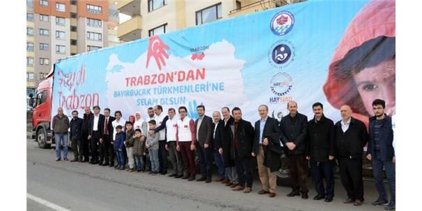 Trabzon'dan Bayırbucak Türkmenlerine iki TIR dolusu yardım