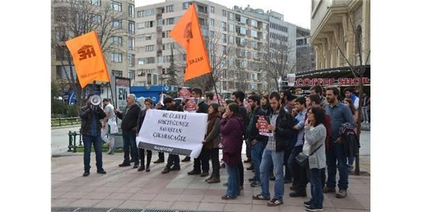 HALK EVLERİ ANKARA'DAKİ PATLAMAYI PROTESTO ETTİ
