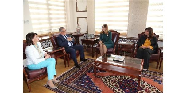 Azerbaycan Milletvekili Ganira Paşayeva, Vali Aykut Pekmez'i Ziyaret Etti