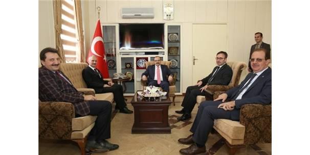 Tdk Başkanı Mustafa Sinan Kaçalin'den, Vali İsmail Ustaoğlu'na Ziyaret