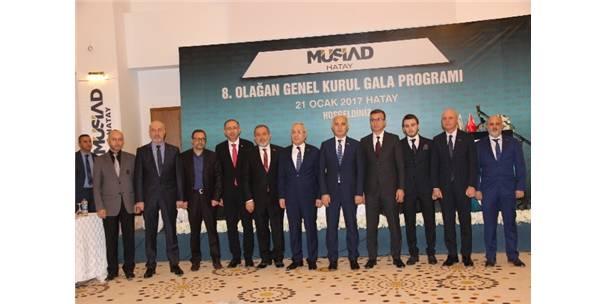 Müsiad Hatay Şubesi 8. Olağan Kongresini Gerçekleştirdi