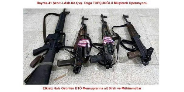 Terör Örgütüne Yönelik Operasyonda Çok Sayıda Mühimmat Ele Geçirildi