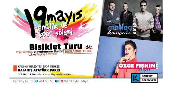 Kadıköy'de 19 Mayıs Coşkusu Tüm Gün Yaşanacak