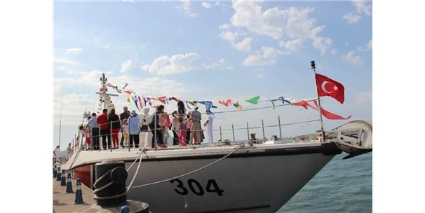 Yerli Üretim Sahil Güvenlik Gemisine Vatandaşlardan Yoğun İlgi