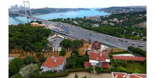 15 Temmuz Zafer Anıtı'nın Yapımı Havadan Görüntülendi