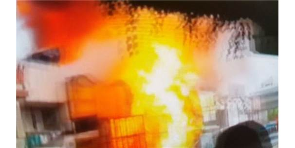 Samsun'da 15 Kişinin Yaralandığı Patlamanın Görüntüleri Ortaya Çıktı