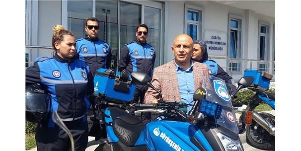 Motosikletli Kadın Zabıtalar İşbaşı Yaptı