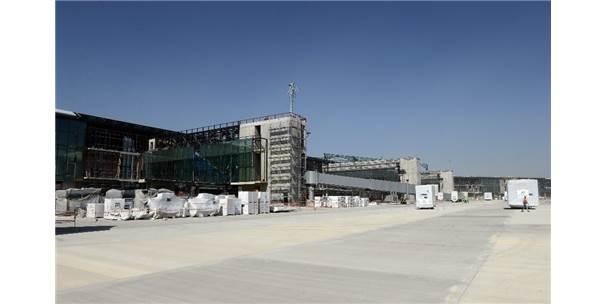 3'Üncü Havalimanı İnşaatındaki Son Durum Havadan Görüntülendi