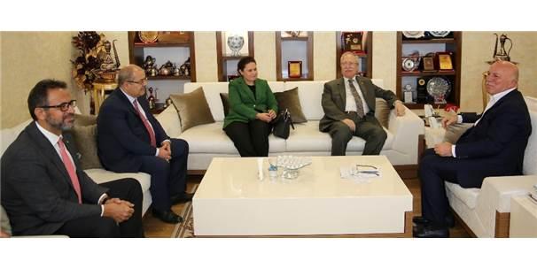 Vakıfbank Yönetim Kurulu Başkanı Alptekin'den Başkan Sekmen'e Ziyaret