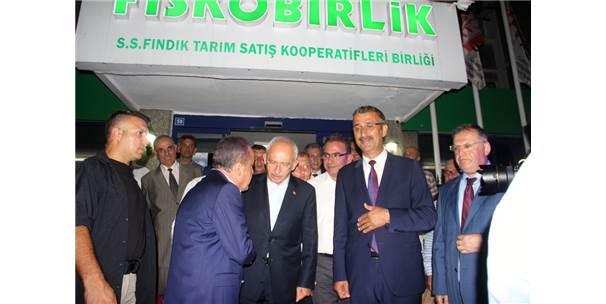 Chp Genel Başkanı Kılıçdaroğlu, Fiskobirlik'i Ziyaret Etti