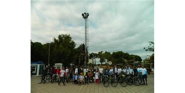 Burhaniyeli Bisikletçiler Kalp Sağlığı İçin Pedal Çevirdi