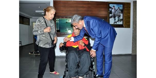 Başkan Alıcık'tan Bir Engelliye Daha Destek