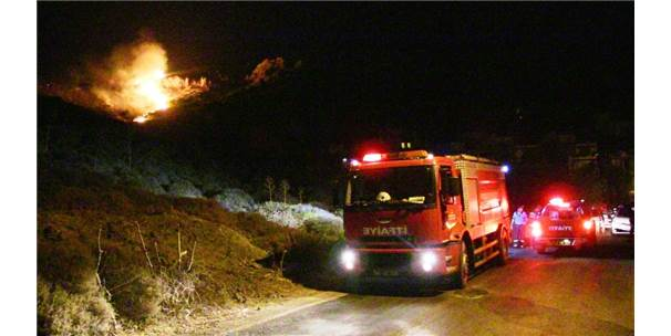 Bodrum'daki Yangın Evlere Sıçramadan Söndürüldü