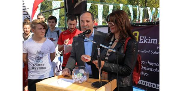 Edirne'de Sokak Basketbol Turnuvası