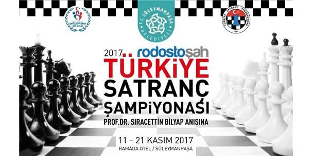 Türkiye Satranç Şampiyonası Süleymanpaşa'da Yapılacak