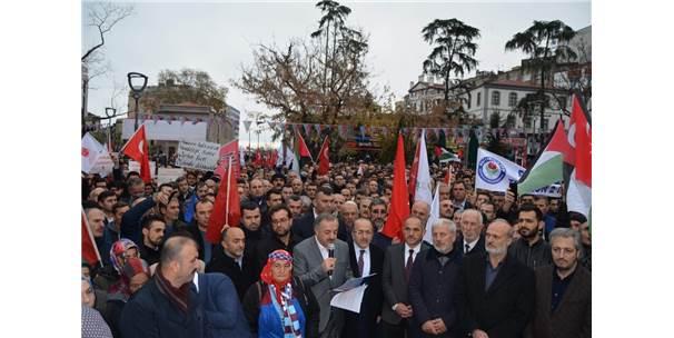 Trabzon'da Stk'lardan 'Kudüs' Protestosu