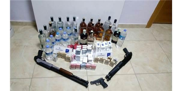 Yakakent'te Kaçak İçki Ve Sigara Ele Geçirildi