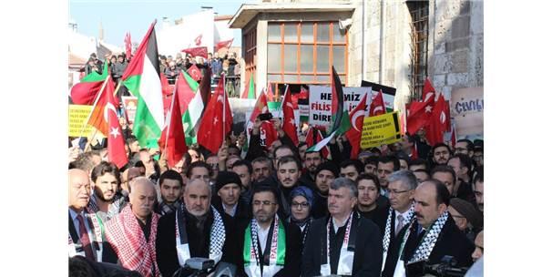 Konya'da Kudüs Protestosu