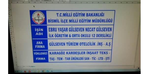 Bismil'de Ebru Yaşar Gülseven Ortaokulu'nun Temeli Atıldı