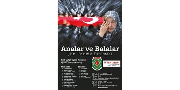 """Erzurum'da """"Analar Ve Balalar"""" İsimli Şiir Ve Müzik Dinletisi"""