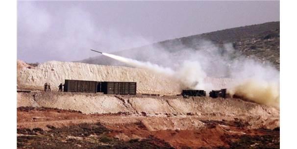 Çok Namlulu Roket Atarlardan Afrin'e Yoğun Atış