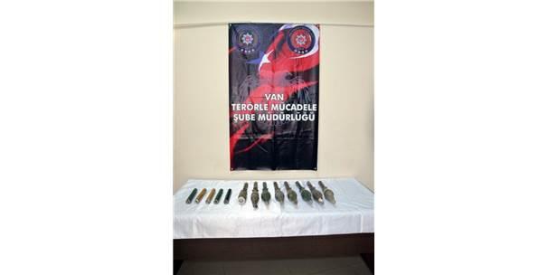 Van'da 7 Roket Başlığı Ele Geçirildi