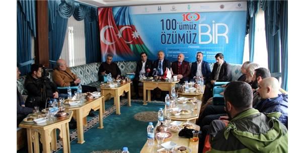 """Erzurum'da """"100'Ümüz Özümüz Bir"""" Toplantısı"""