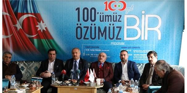 """Erzurum'da Muhteşem Program: """"100'Müz Özümüz Bir"""""""