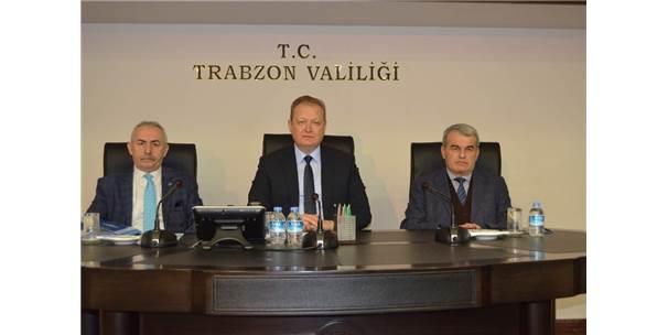 Trabzon'da Seçim Güvenliği Toplantısı Vali Yücel Yavuz'un Başkanlığında Yapıldı