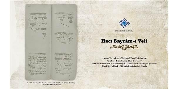 """Türk Tarih Kurumu'ndan """"Belgelerle Hacı Bayram-I Velî"""" Sergisi"""