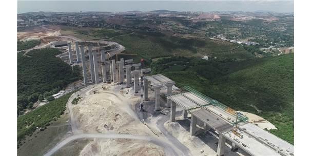 Kuzey Marmara Otoyolu'nda Çalışmalar Sürüyor