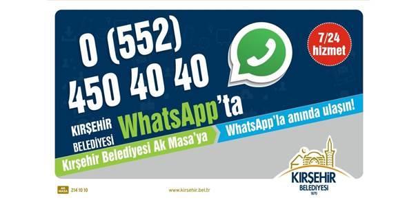 Kırşehir Belediyesi Whatsapp İletişim Hattı Hizmete Girdi