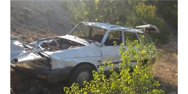 Amasya'da Otomobil Devrildi: 1 Ölü, 1 Yaralı