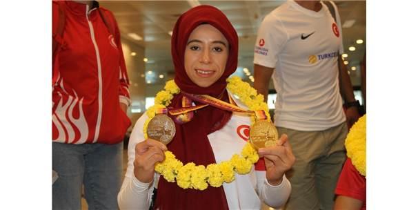 Avrupa Rekoru Kırarak Şampiyon Olan Engelli Sporcular Yurda Döndü