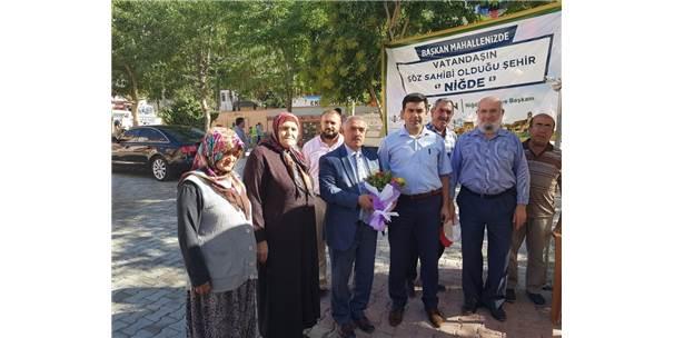 Niğde Belediyesi Hizmet Çadırı Şehitler Mahallesi'nde