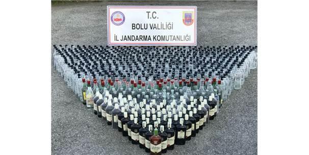 Bolu'da Durdurulan 2 Araçtan Bin Litre Kaçak İçki Çıktı