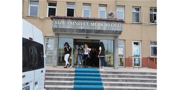 Rize'de Fuhuş Operasyonunda 76 Gözaltı