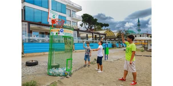 'Çöpe Atma Basket At' Projesi Büyük İlgi Görüyor