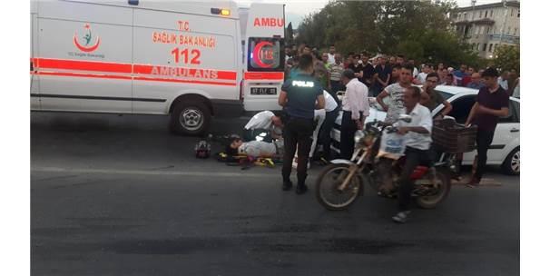 Manavgat Köprüsünde Motosiklet Kazası: 1 Yaralı