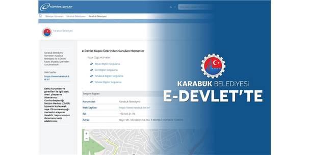 Karabük Belediyesi E-Devlet'te