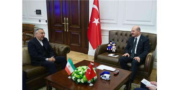 Bakan Soylu, İran'ın Ankara Büyükelçisi Fard'ı Kabul Etti