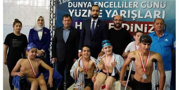 Siirtli Bedensel Ve İşitme Engelli Sporculardan Madalya